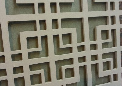 Chinese fretwork panel closeup