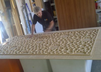 Moroccan Star Fretwork Panel finishing
