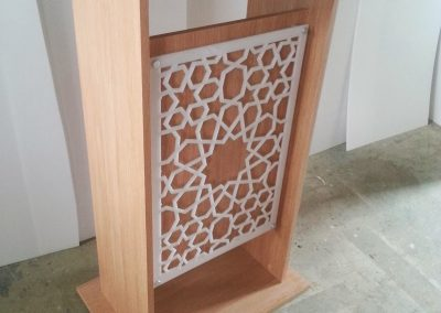Moroccan Star Fretwork Panel on lectern