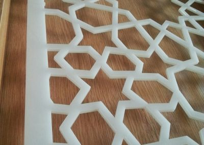 Moroccan Star Fretwork Panel on lectern closeup
