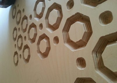 Octagons Lattice Fretwork Panel detail