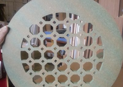 Octagons Lattice Fretwork Round Table top