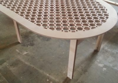 Octagons Lattice Fretwork curved table