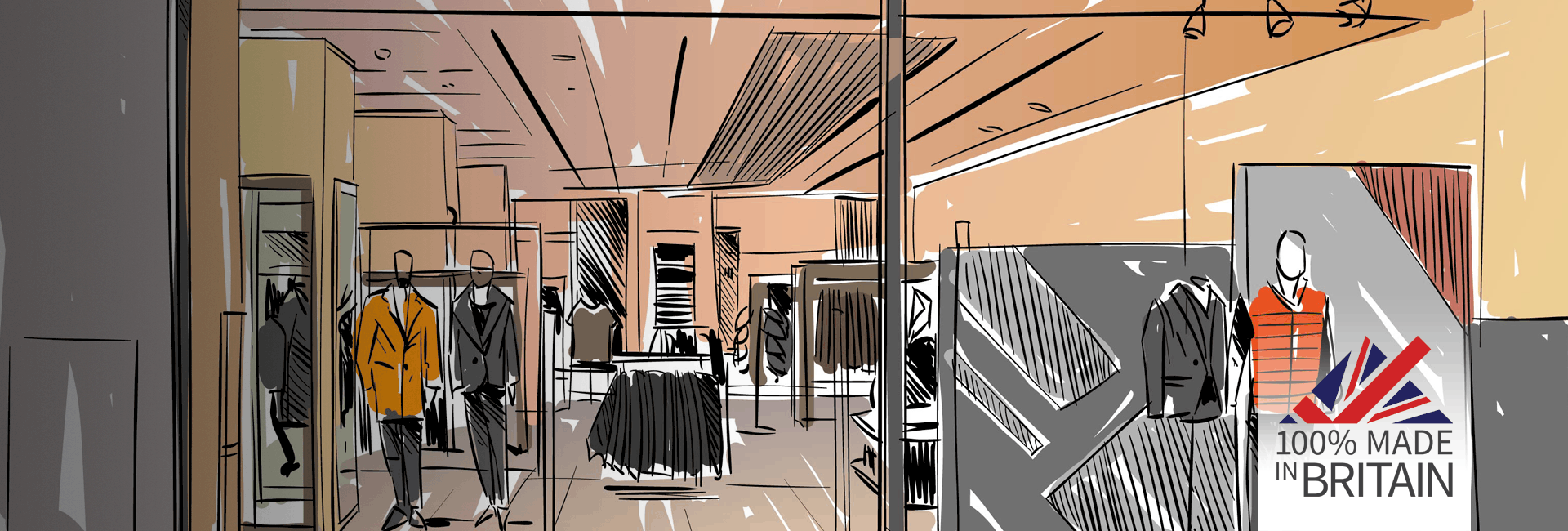 Retail clothing store drawing