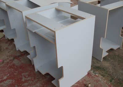Kitchen units in production
