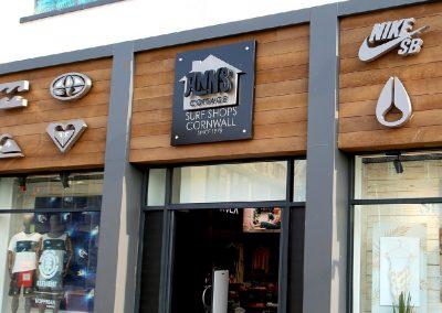 Retail shop signage