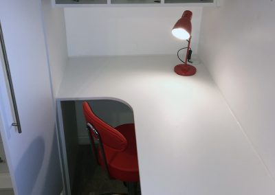 Small white home office