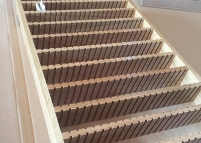 Reception drawers with slots