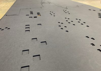 Routed black mdf skyline