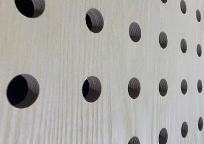 Pre-drilled panel boards